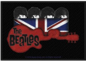 The Beatles Knotted Guitar sew-on embroidered cloth patch 100mm x 70mm (ro)